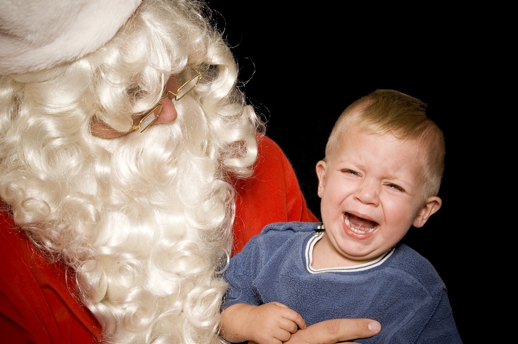 Santa-induced tears make for great videos