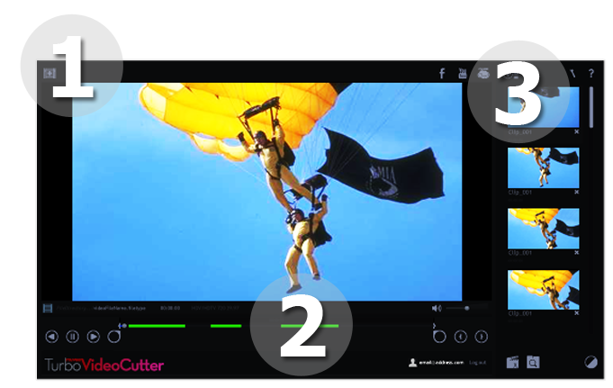 Video Cutter for Action Cams, trim your lengthy videos in