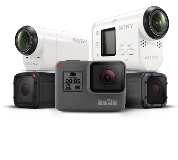GoPro and Sony Action Cams