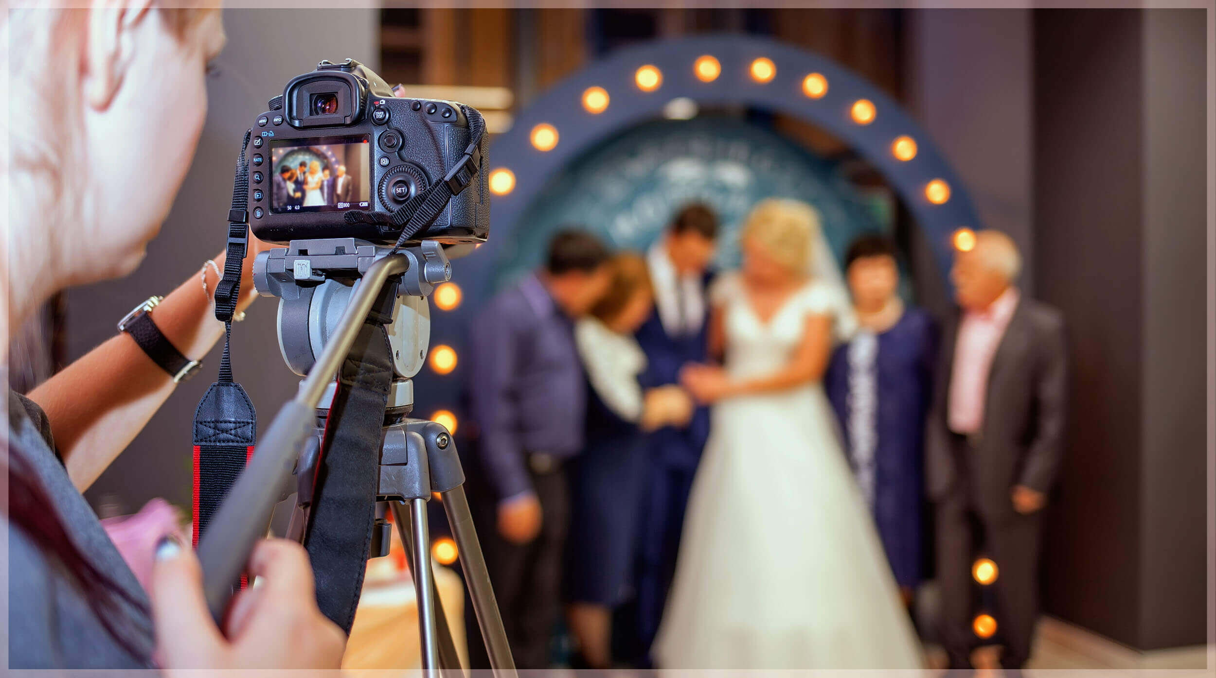Wedding Photos in low light- use of a tripod